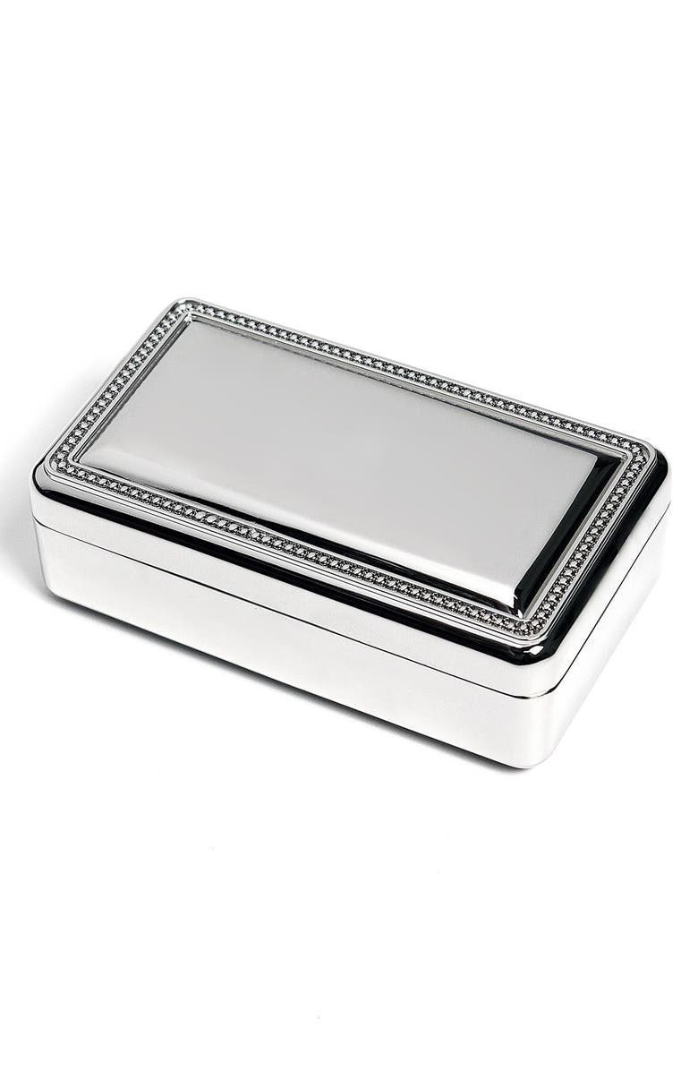 CATHY'S CONCEPTS Cathys Concepts Monogram Jewelry Box, Main, color, BLANK