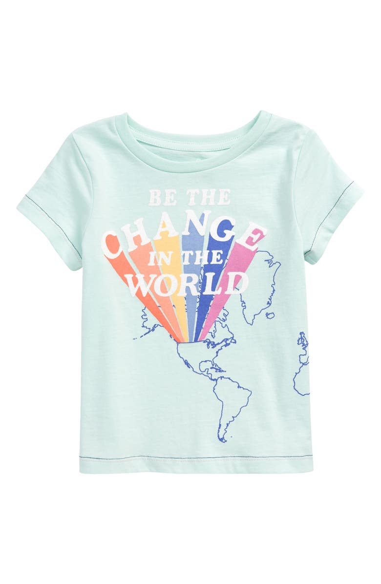 PEEK AREN'T YOU CURIOUS Kids' Audrey Change the World Graphic Tee, Main, color, LIGHT GREEN