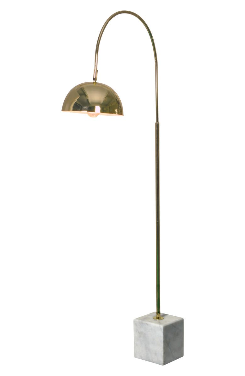 RENWIL Polished Floor Lamp, Main, color, POLISHED BRASS
