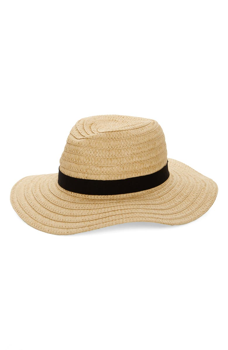 MADEWELL Braided Straw Hat, Main, color, NATURAL MULTI