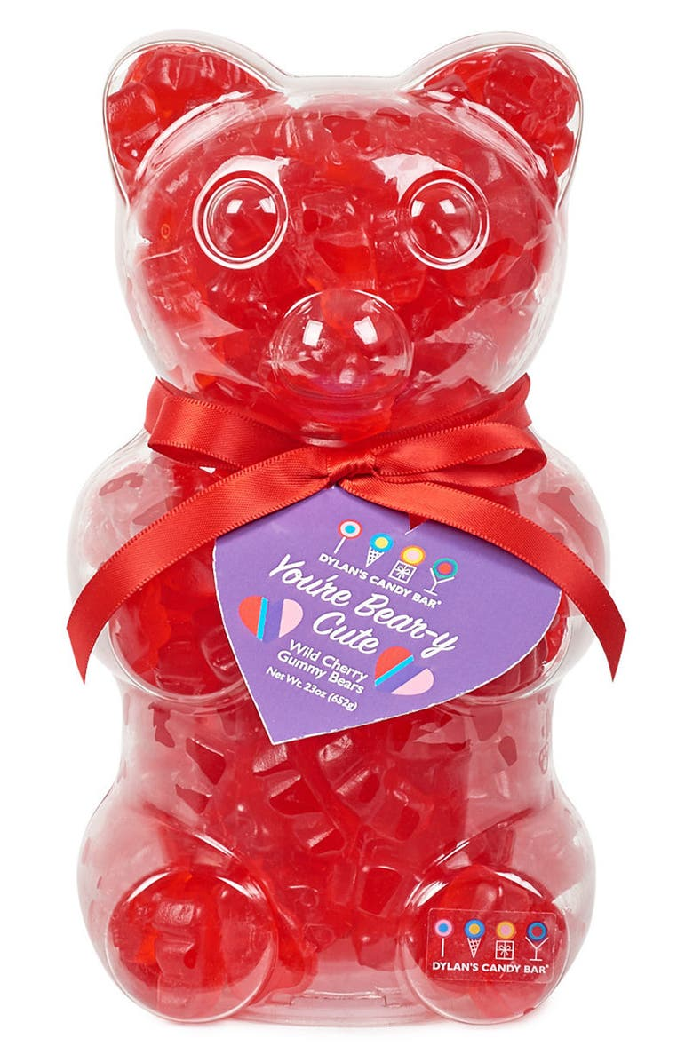 DYLAN'S CANDY BAR You're Beary Cute Filled Gummy Bear, Main, color, RED