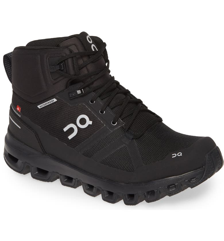 ON Cloudrock Waterproof Hiking Boot, Main, color, ALL BLACK