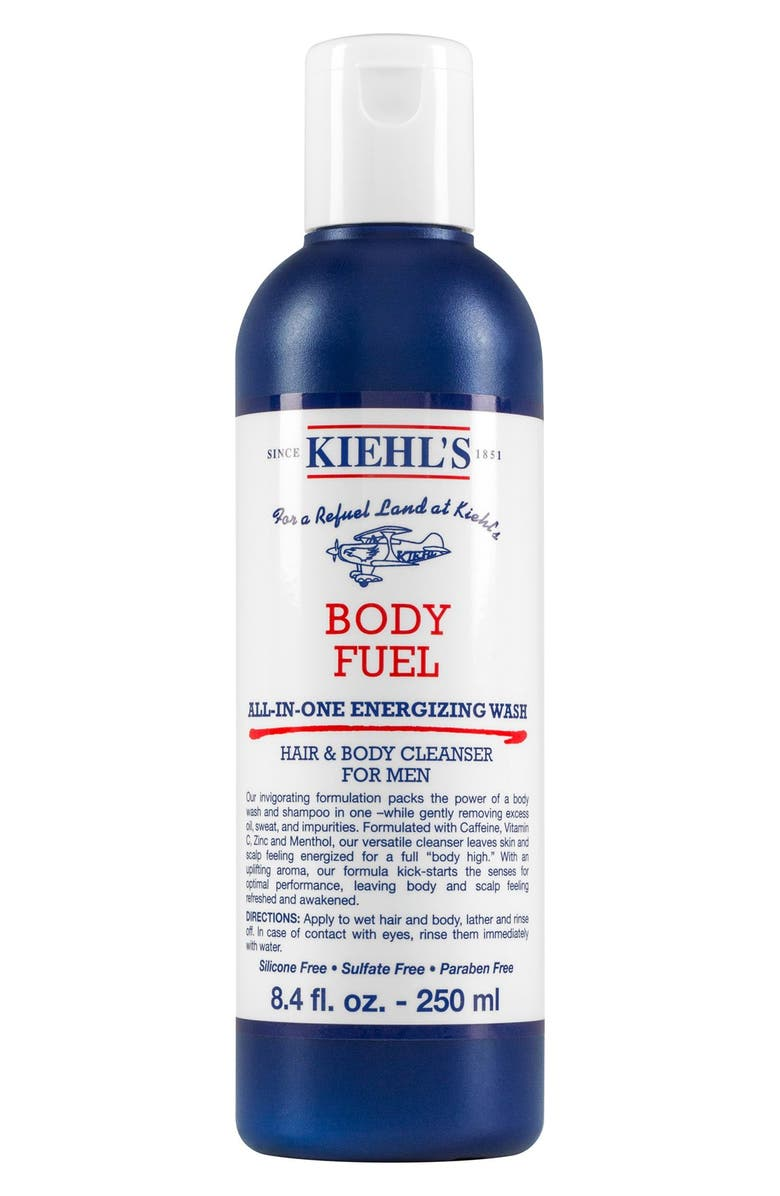 KIEHL'S SINCE 1851 Body Fuel All-in-One Energizing & Conditioning Wash, Main, color, 000