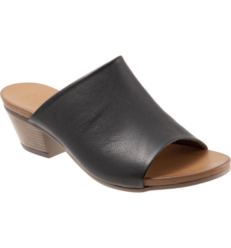 BUENO Simone Slide Sandal, Main, color, BLACK LEATHER