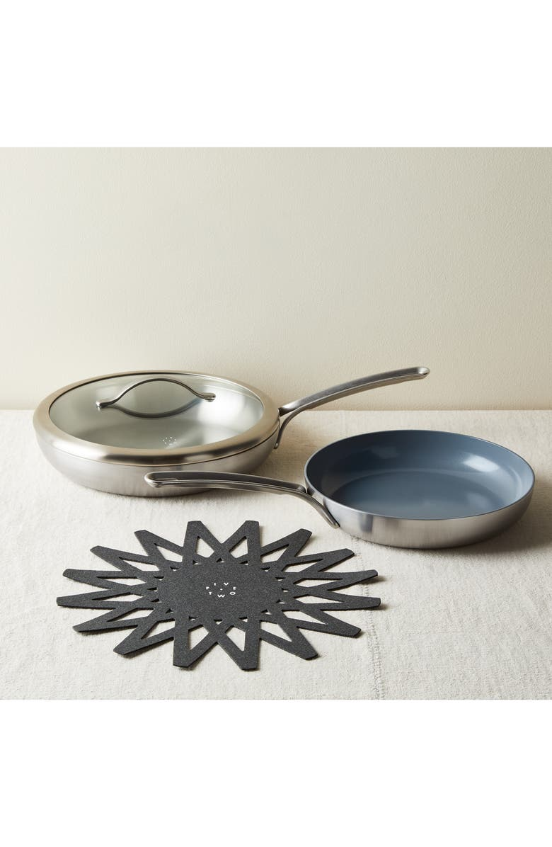FIVE TWO BY FOOD52 Essential Cookware Mixed Skillet Set, Main, color, METAL