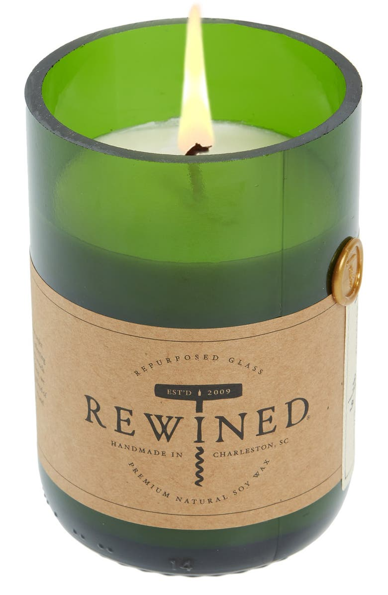 REWINED Soy Wax Wine Bottle Candle, Main, color, SPIKED CIDER