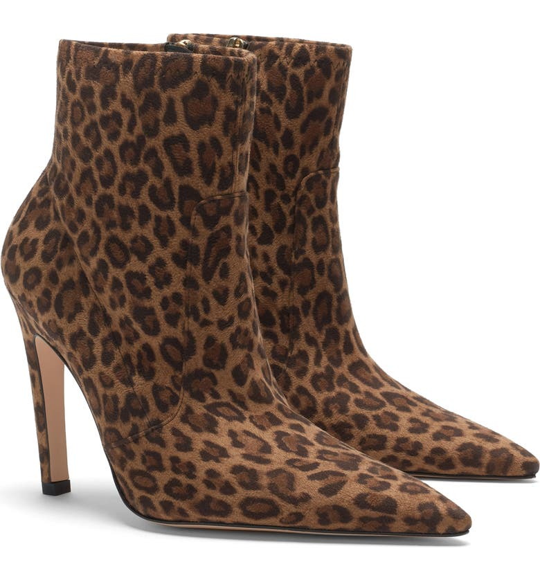 GOOD AMERICAN The Icon Bootie, Main, color, PALE LEOPARD