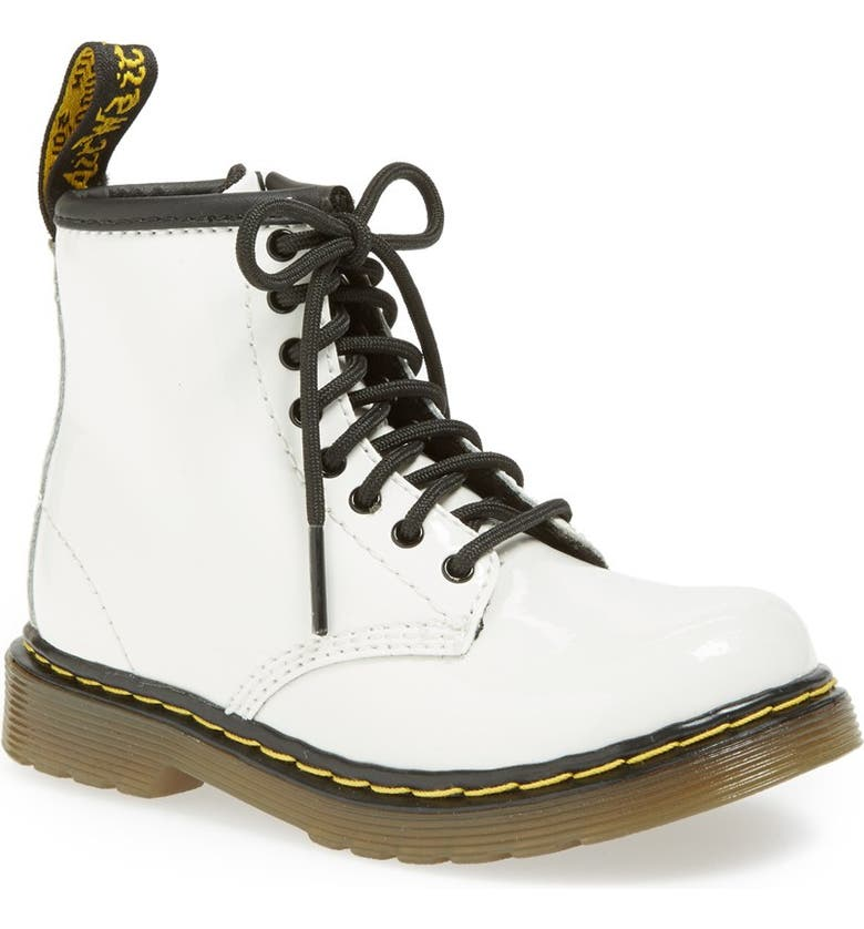 DR. MARTENS 'Brooklee' Boot, Main, color, White
