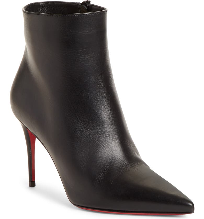 CHRISTIAN LOUBOUTIN So Kate Pointed Toe Bootie, Main, color, 001