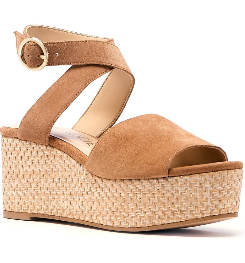 SOLE SOCIETY Adlynda Platform Sandal, Main, color, WALNUT SUEDE