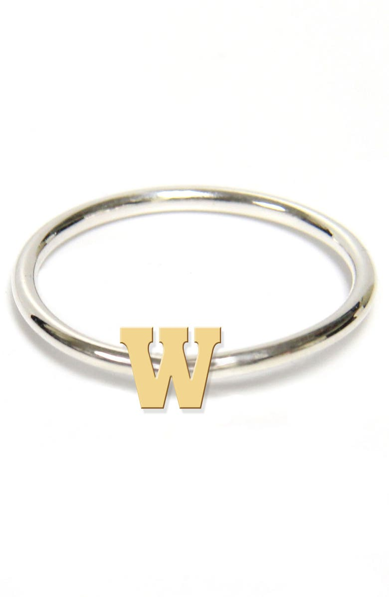 JANE BASCH DESIGNS Two-Tone Initial Ring, Main, color, GOLD- W