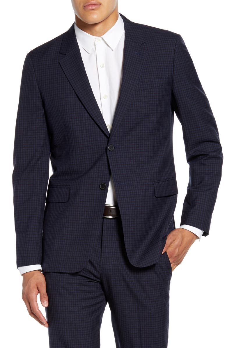 THEORY Chambers Thurlow Slim Fit Check Wool Sport Coat, Main, color, 498