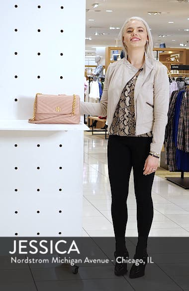 Kira Chevron Quilted Leather Shoulder Bag, sales video thumbnail