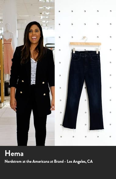 The Hustler High Waist Frayed Ankle Flare Jeans, sales video thumbnail