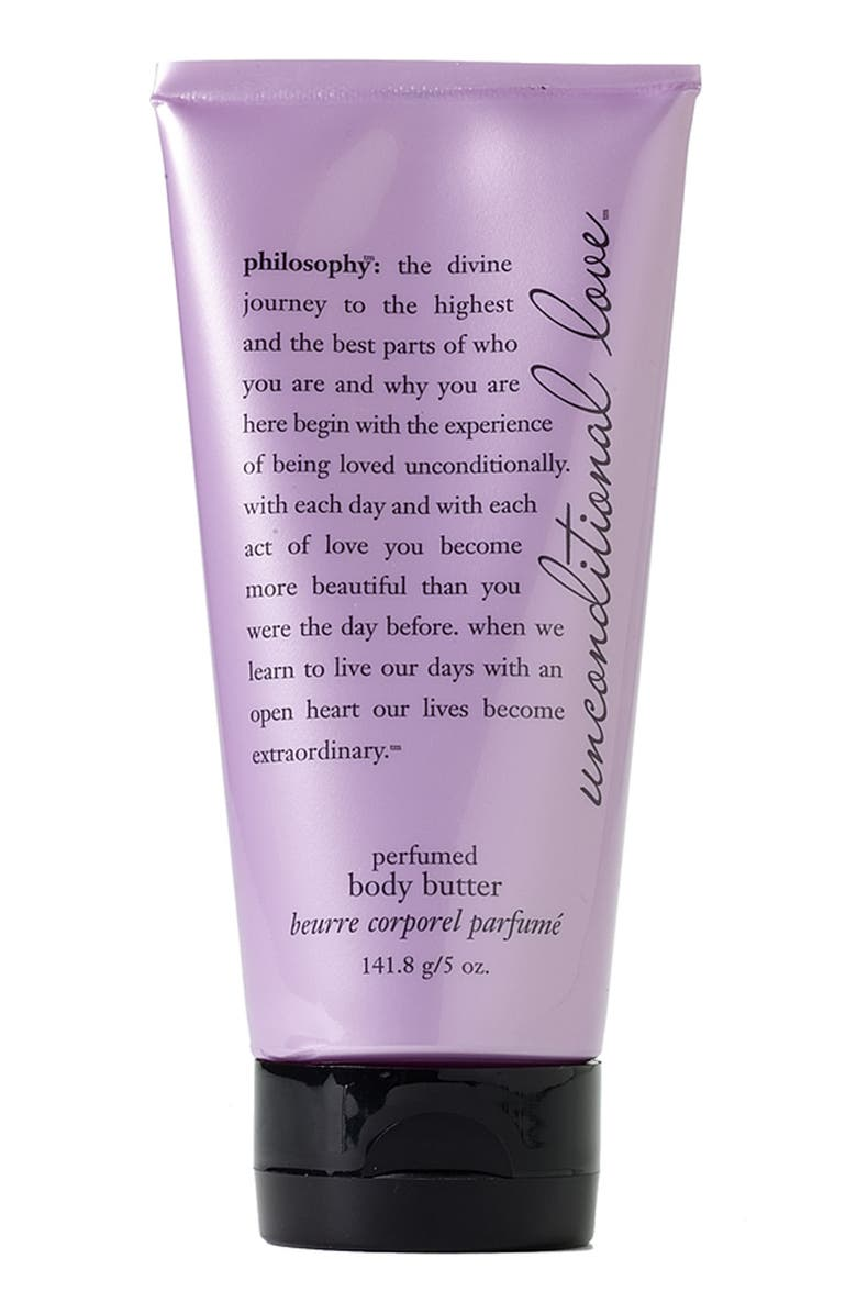 PHILOSOPHY 'unconditional love' perfumed body butter, Main, color, 000
