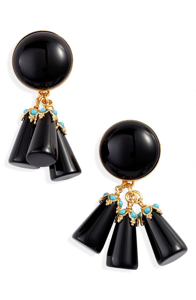 GAS BIJOUX Trapani Earrings, Main, color, Black