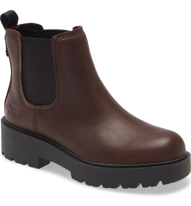 UGG<SUP>®</SUP> Markstrum Waterproof Chelsea Boot, Main, color, BURGUNDY LEATHER