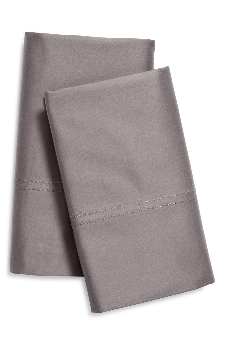NORDSTROM 400 Thread Count Organic Cotton Pillowcases, Main, color, GREY PEARL