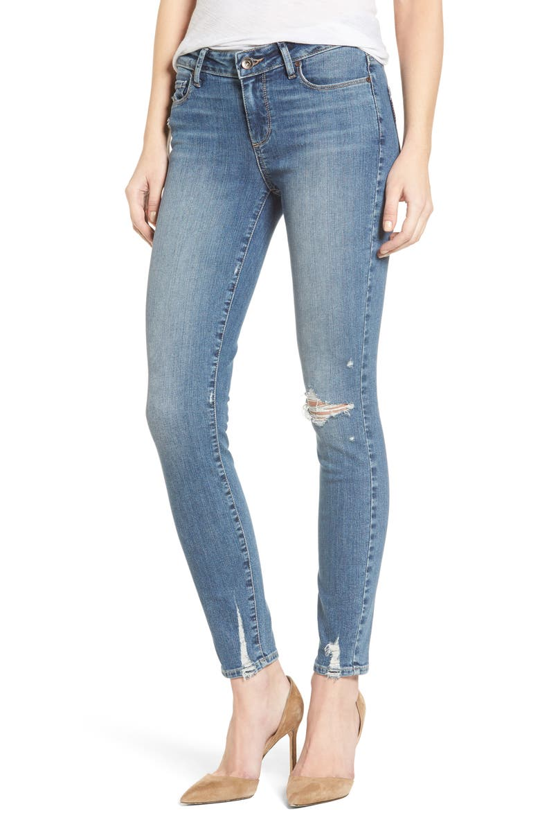 PAIGE Verdugo Distressed Ultra Skinny Jeans, Main, color, PRYOR DESCTRUCTED