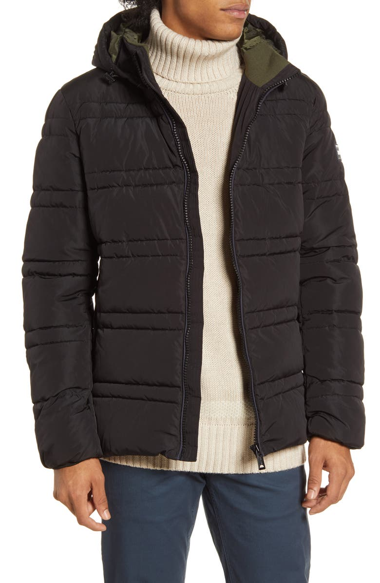 SCOTCH AND SODA Classic Hooded PrimaLoft Jacket, Main, color, 002