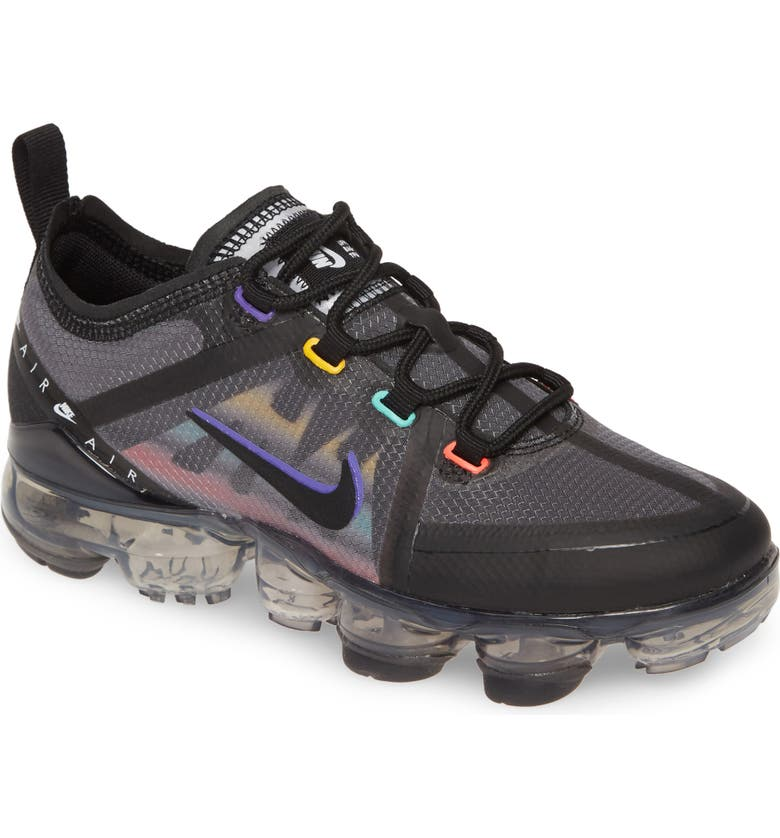 NIKE Air VaporMax 2019 Game GS Sneaker, Main, color, 001