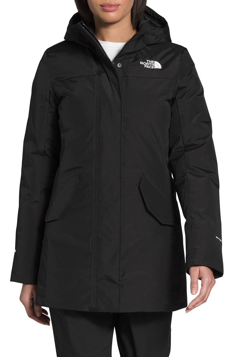 THE NORTH FACE Pilson Waterproof 550 Fill Power Down Parka, Main, color, 002