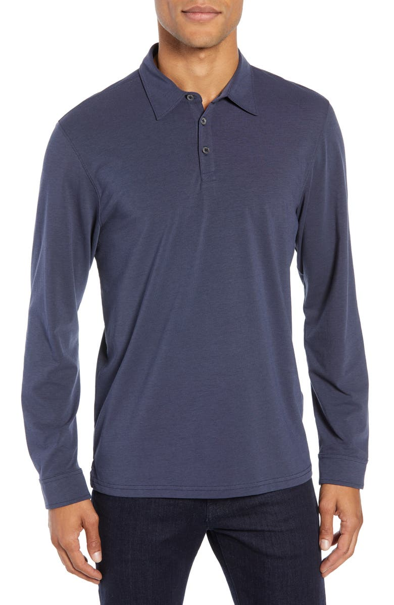 ZACHARY PRELL Benton Long Sleeve Polo, Main, color, 411