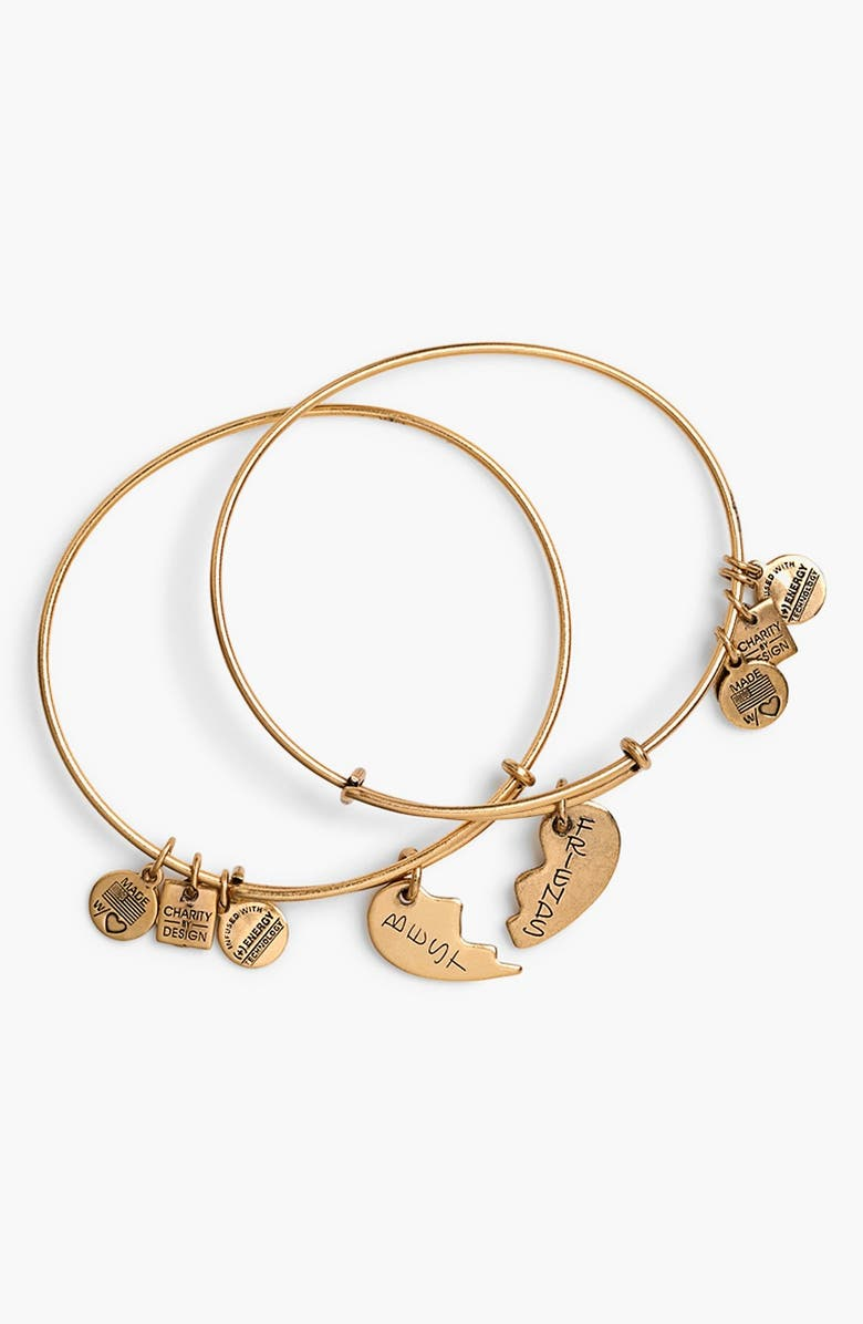 ALEX AND ANI 'Charity by Design - Best Friends' Adjustable Wire Bangles, Main, color, 710