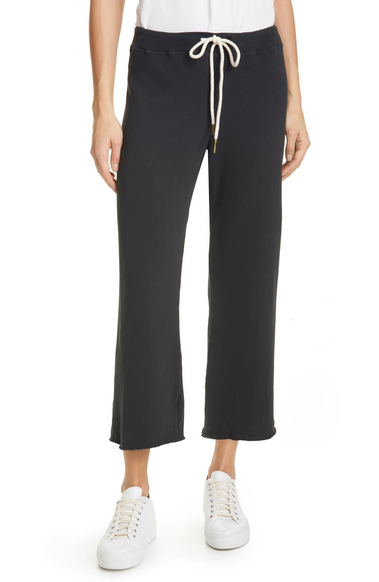 THE GREAT. The Wide Leg Cropped Sweatpants, Main, color, 003