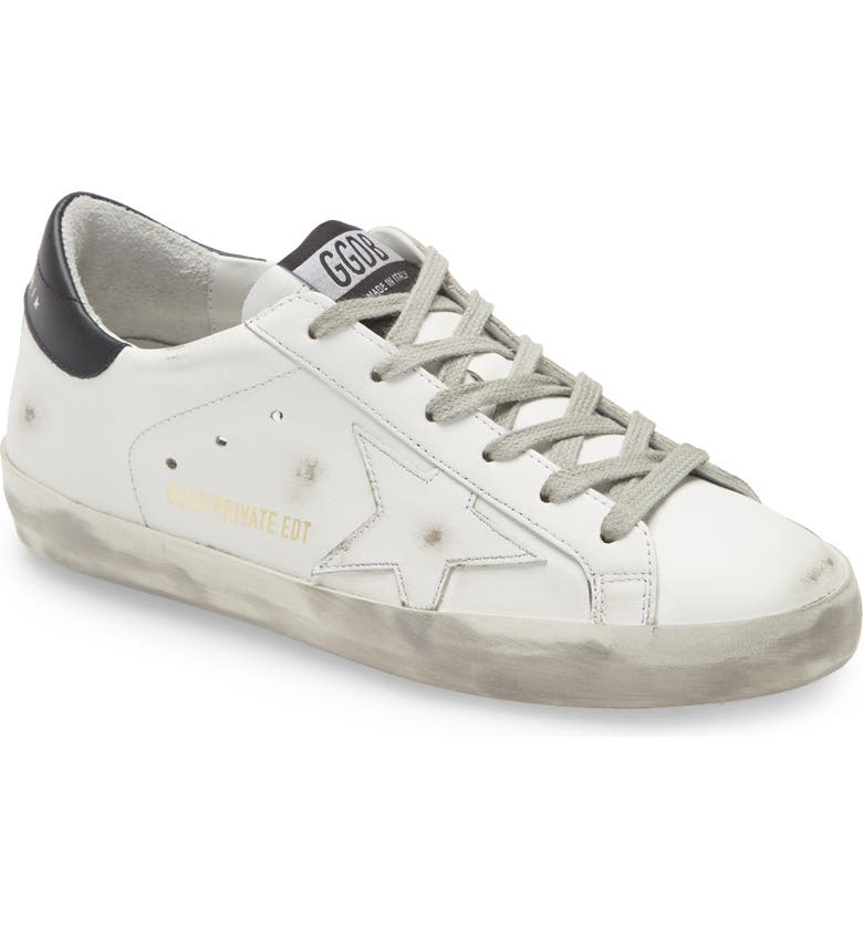 GOLDEN GOOSE Super-Star Low Top Sneaker, Main, color, WHITE BLACK LEATHER