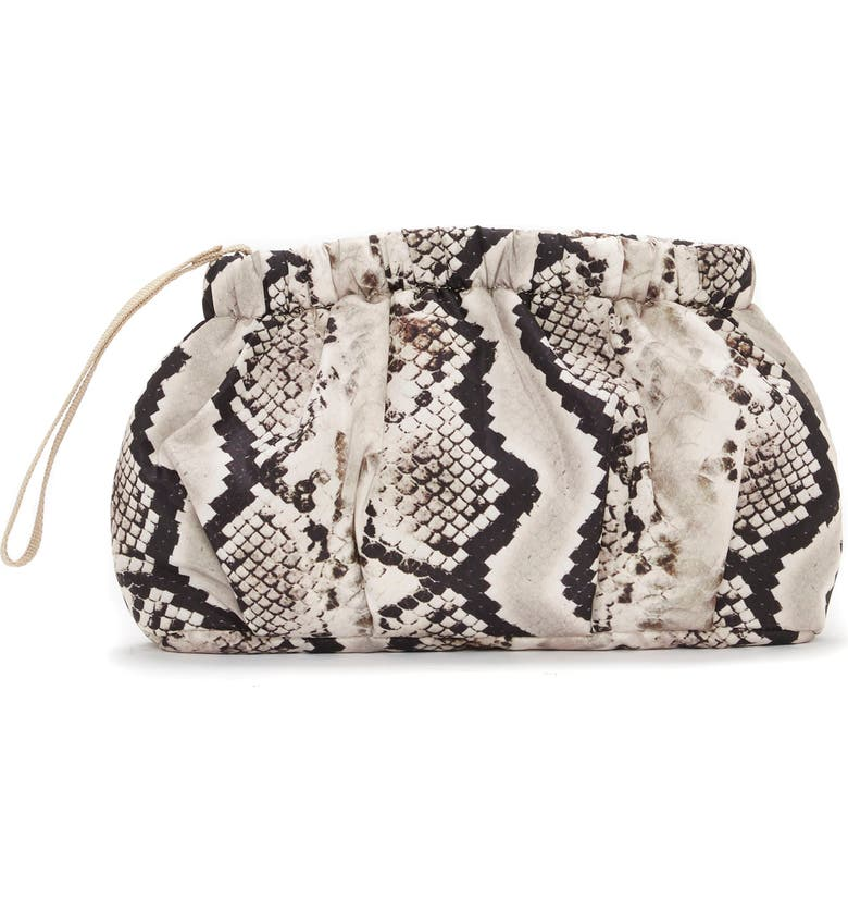 VINCE CAMUTO Harlo Nylon Clutch, Main, color, TAUPE