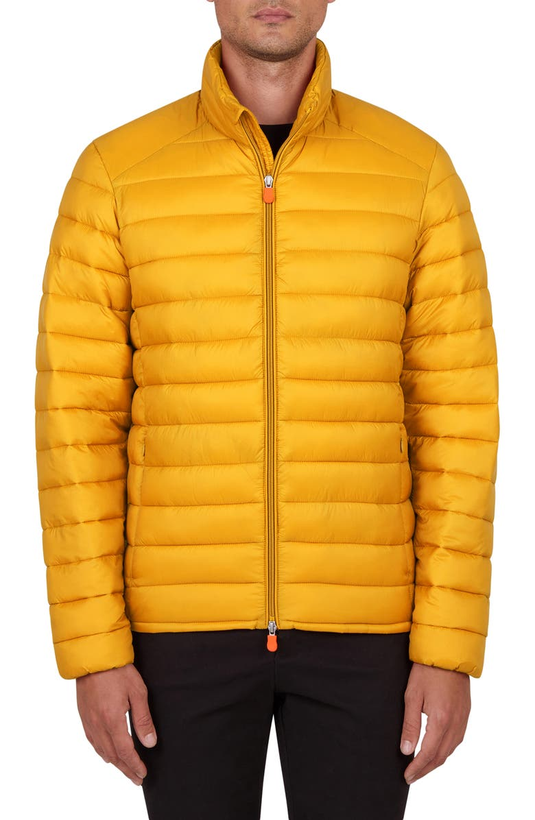 SAVE THE DUCK GIGA Water Resistant Puffer Coat, Main, color, MUSTARD YELLOW