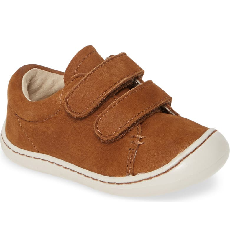 FOOTMATES Henry Sneaker, Main, color, RUST SOFT-TOUCH