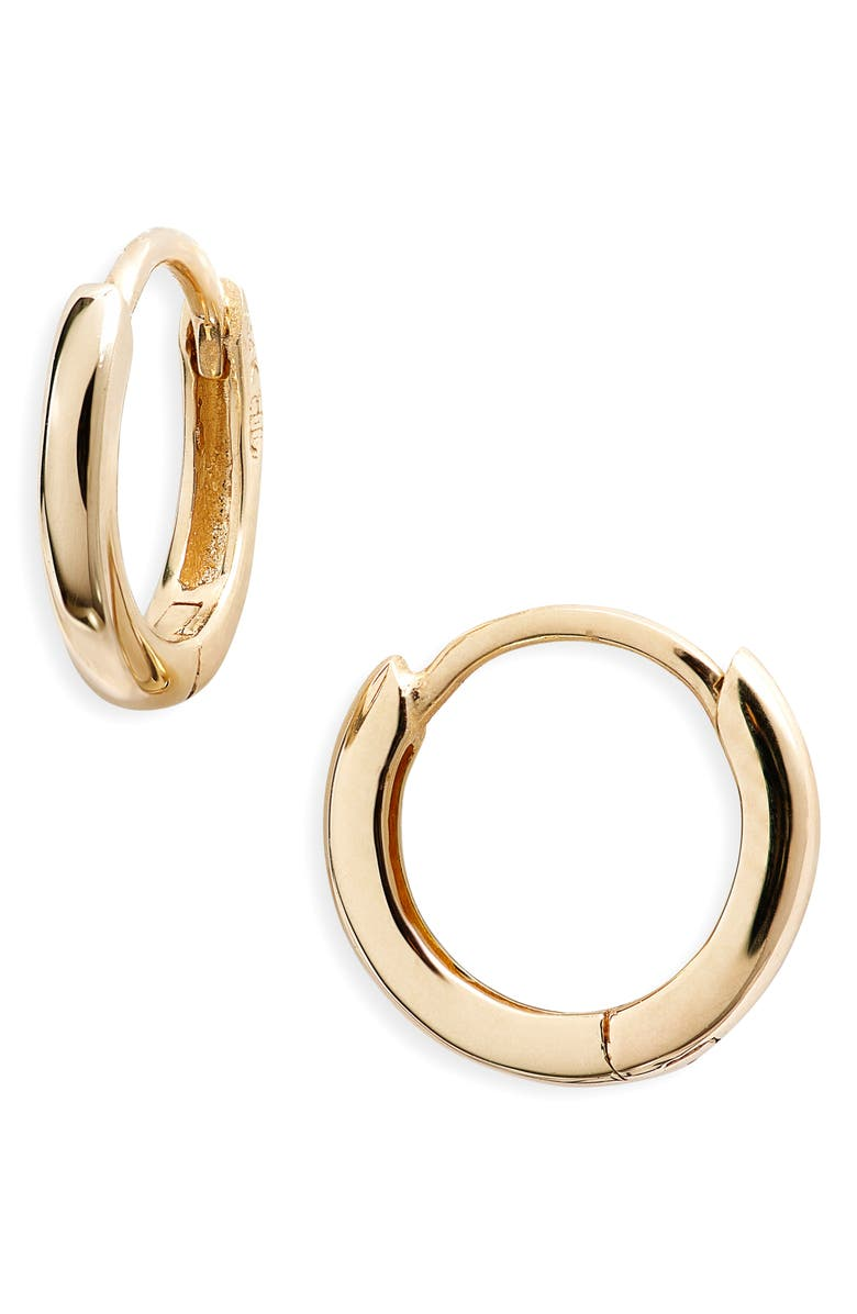 BONY LEVY Essentials 14K Gold Huggie Hoop Earrings, Main, color, YELLOW GOLD