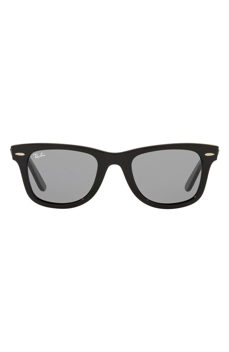 RAY-BAN 'Classic Wayfarer' 50mm Sunglasses, Main, color, 001