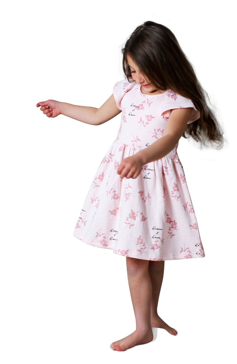 TINY TRIBE Kids' Blossom & Bloom Dress, Main, color, Pink