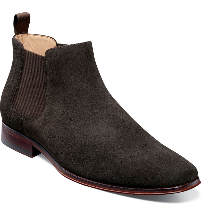 FLORSHEIM Imperial Palermo Chelsea Boot, Main, color, BROWN SUEDE