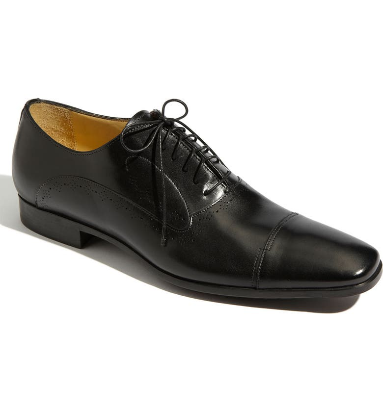 SANTONI 'Orrin' Cap Toe Oxford, Main, color, 001