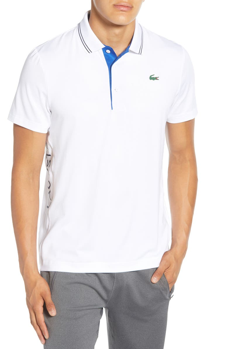 LACOSTE Regular Fit Tipped Polo, Main, color, 100
