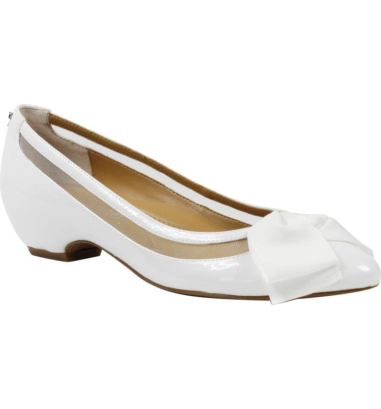 J. RENEÉ Taroona Pump, Main, color, WHITE FAUX PATENT LEATHER