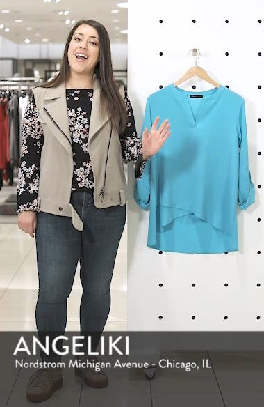 Gibson x International Women's Day Erin Cross Front Tunic Blouse, sales video thumbnail