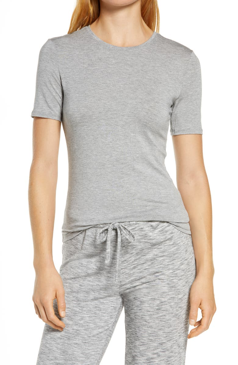 NORDSTROM Moonlight Comfort Layer T-Shirt, Main, color, GREY FROST HEATHER