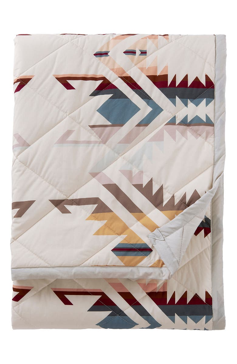 PENDLETON White Sands Reversible Roll-Up Throw Blanket, Main, color, 100