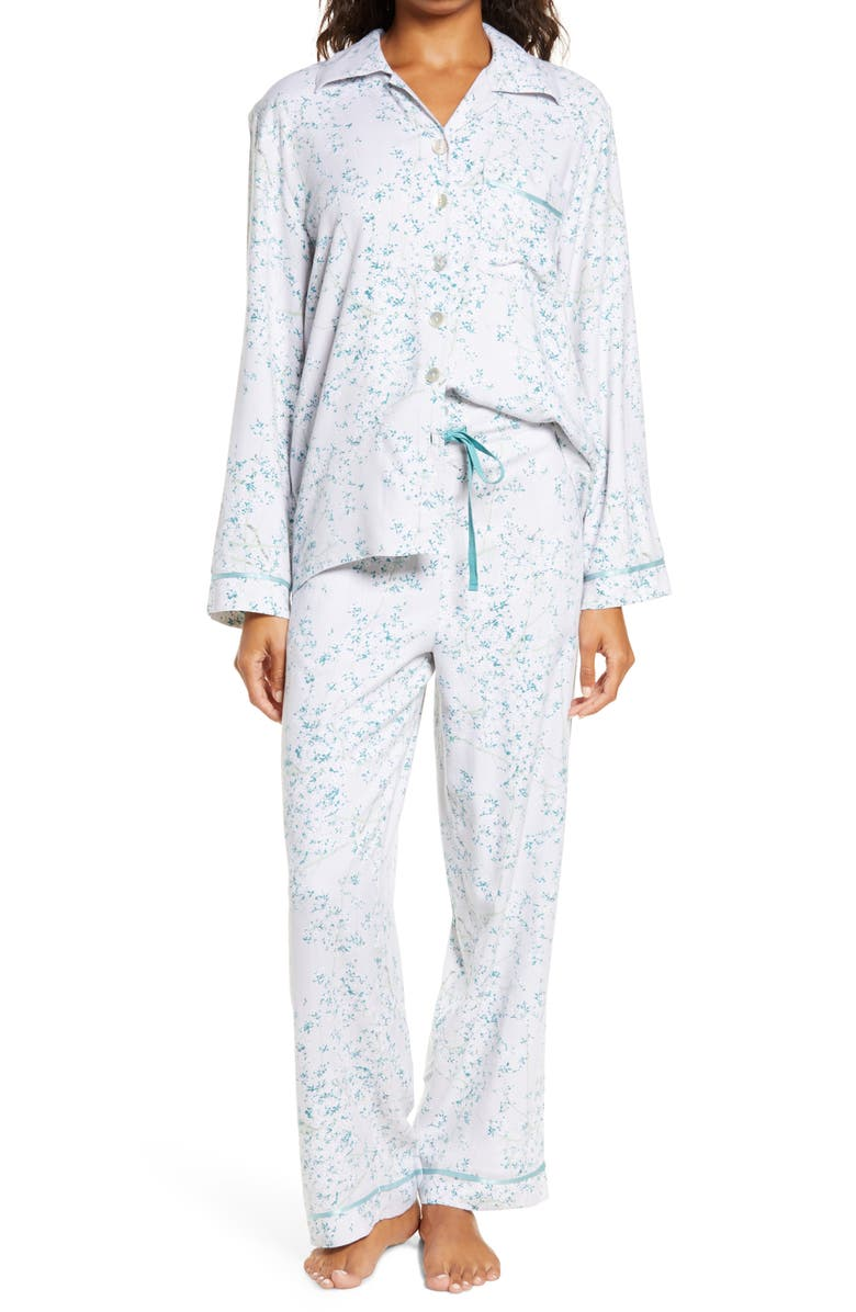 PAPINELLE Cherry Blossom Print Pajamas, Main, color, 400