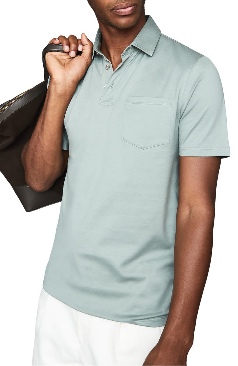 REISS Elliot Solid Pocket Polo, Main, color, 301