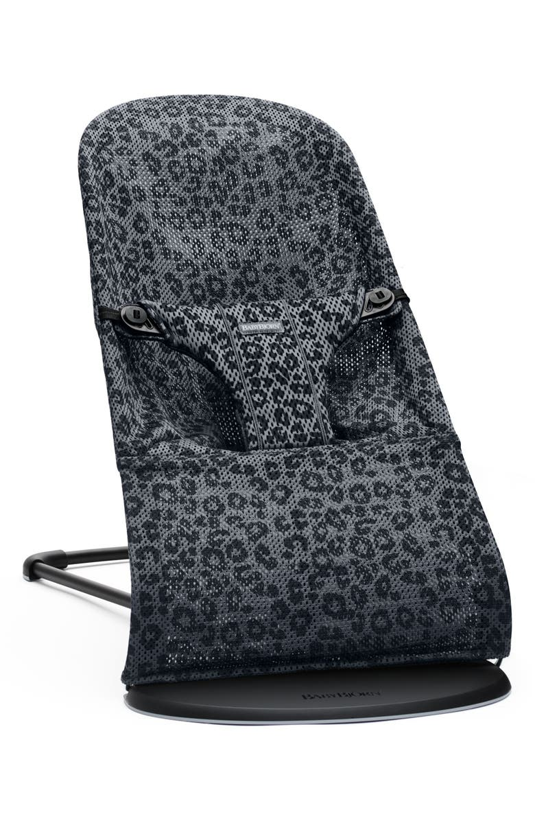 BABYBJÖRN Bouncer Bliss Convertible Mesh Baby Bouncer, Main, color, ANTHRACITE LEOPARD