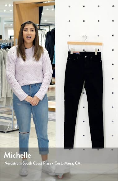 Peg High Waist Skinny Jeans, sales video thumbnail