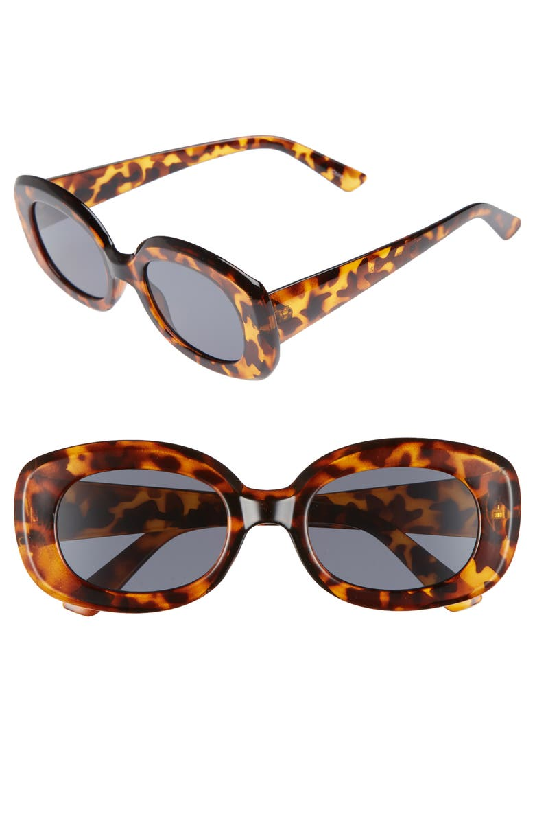 BP. 48mm Small Square Sunglasses, Main, color, TORT