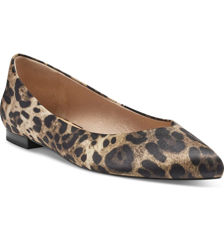 CC CORSO COMO<SUP>®</SUP> Jullia Flat, Main, color, NATURAL LEOPARD PRINT SATIN