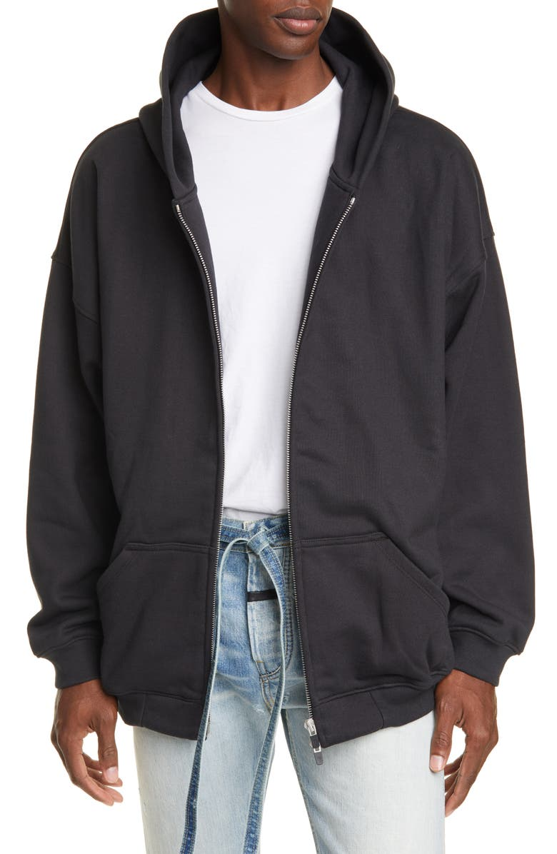 FEAR OF GOD Everyday Oversize Zip Hoodie, Main, color, 010